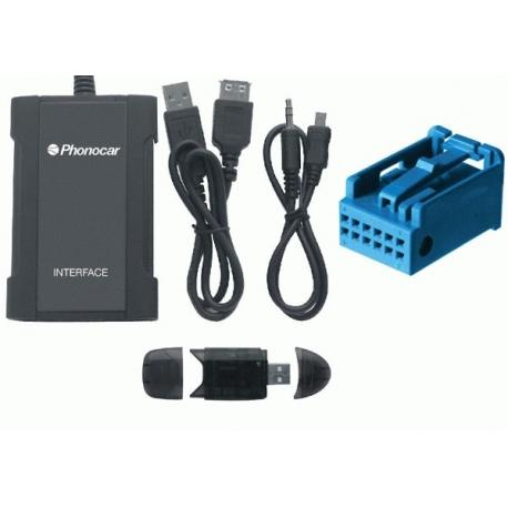 Interface entrada Auxiliar BMW desde 2000 12PIN USB