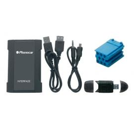 Interface entrada Auxiliar PEUG/CITR USB-SD