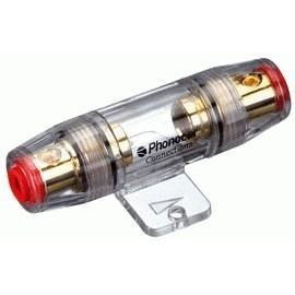 Portafusible 10x38mm DORADO
