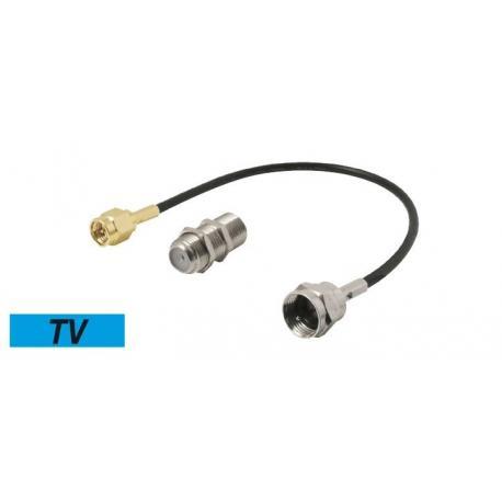 Adaptador Cable de antena TV SMA Macho a F