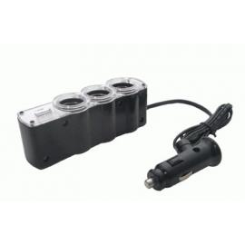 Adaptador de triple toma 12-24V+USB