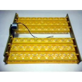 Bandeja para volteo automático de huevos en incubadora casera