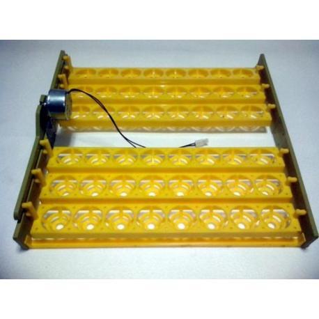 Bandeja para volteo automático de huevos en incubadora casera 48 huevos