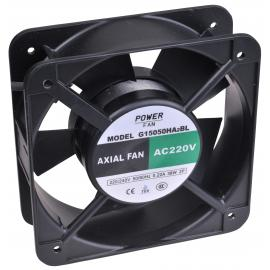 """Ventilador para incubadoras """"Powerfan"""" 150x150x50 mm, cojinete de bolas, rejilla y cables"""