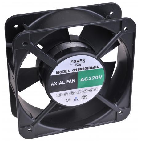 """Ventilador """"Powerfan"""" 150x150x50 mm, cojinete de bolas, rejilla y cables"""