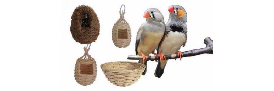 Nidos para Pájaros y fibras